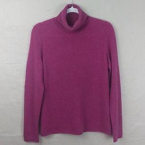 Magaschoni Cashmere Pink Mock Turtleneck Sweater